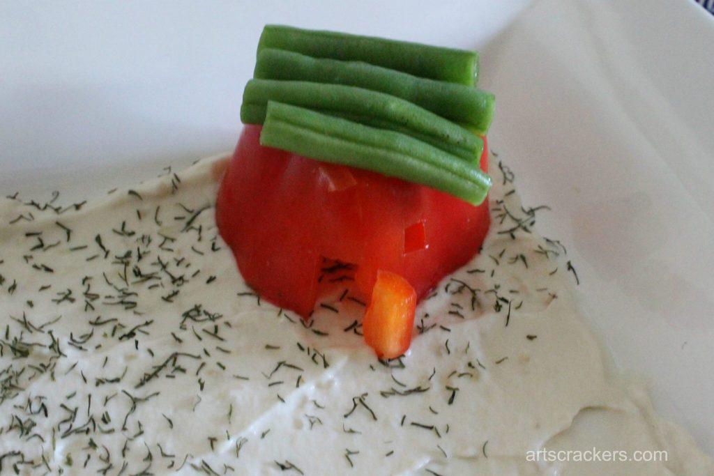 Eat Your Veggies Vehicles Tray House