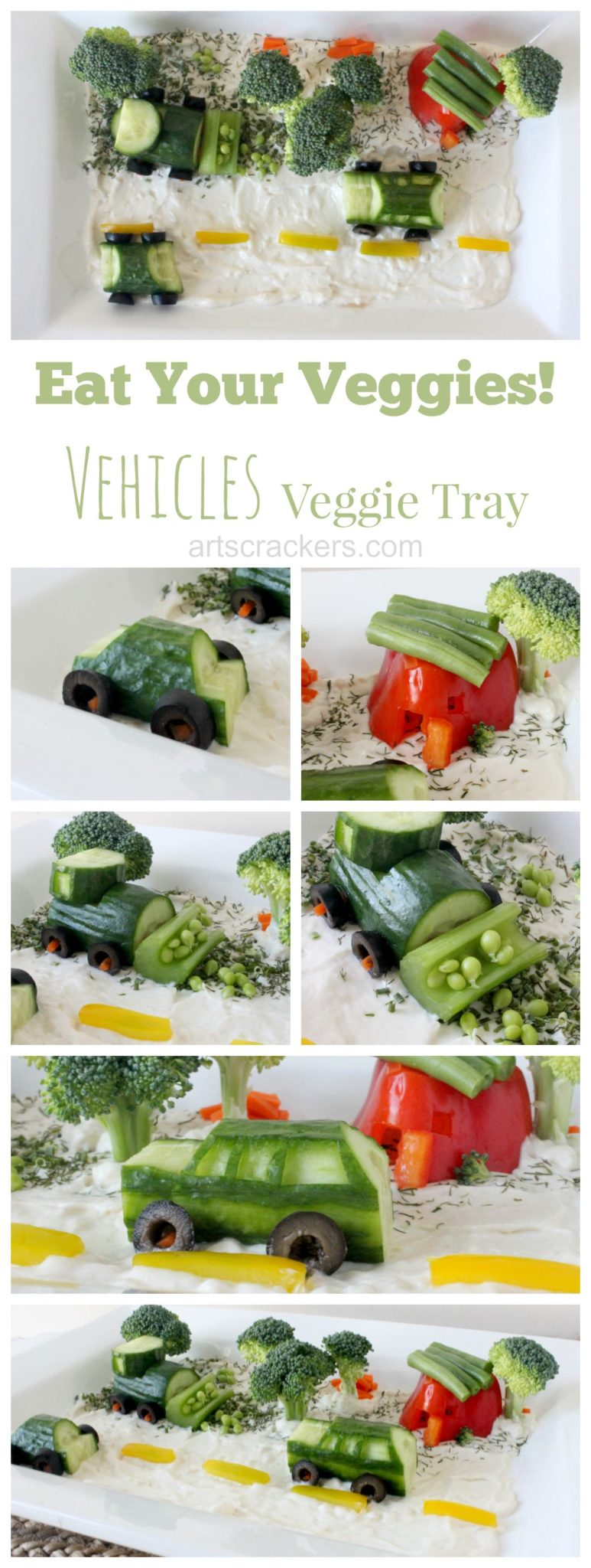 Eat Your Veggies Vehicles Vegetable Tray Tutorial
