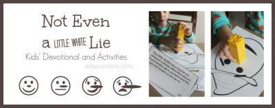 Not Even a Little White Lie Kids Devotional