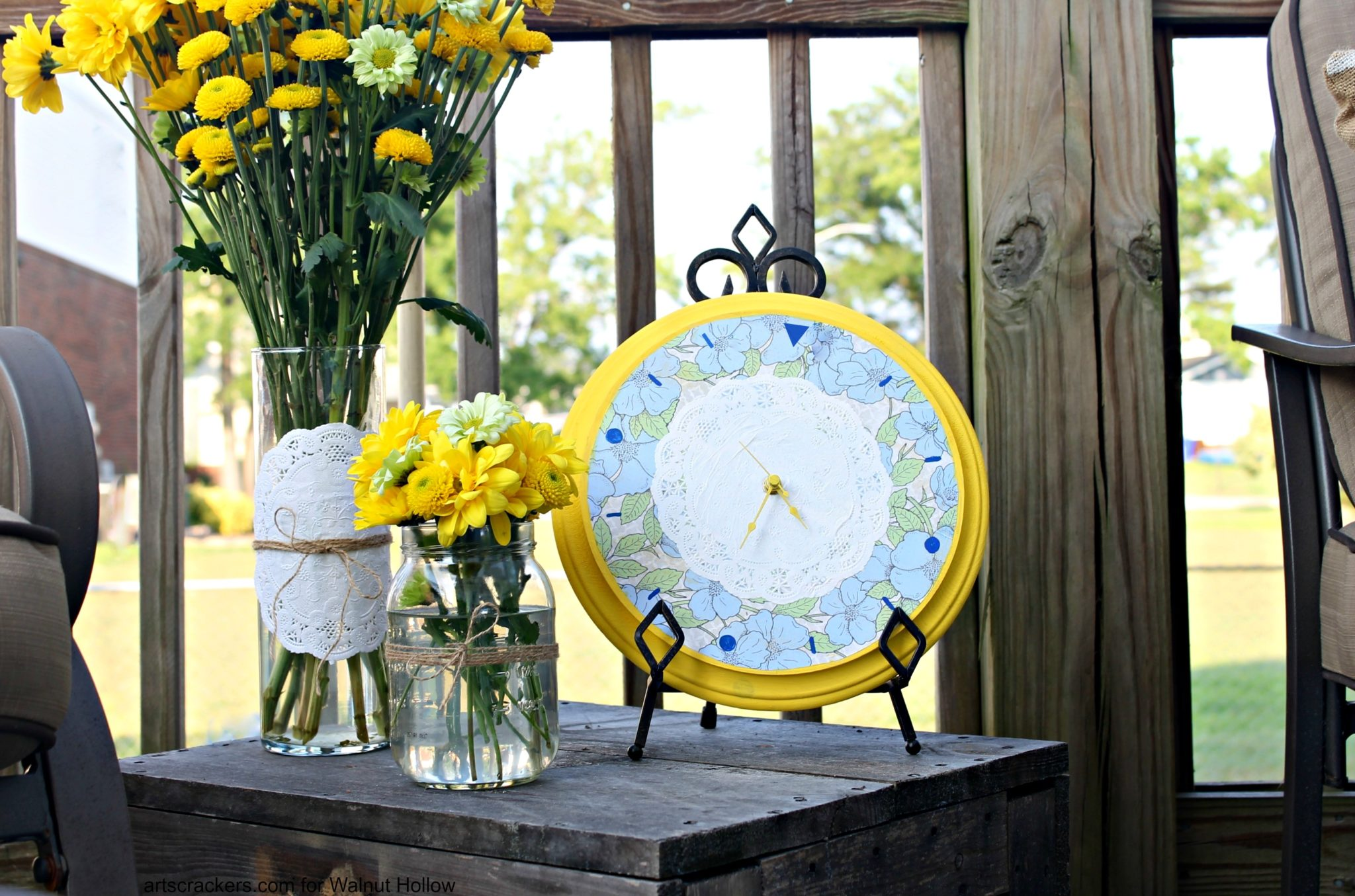 Shabby Chic Blueberry Lemonade Clock