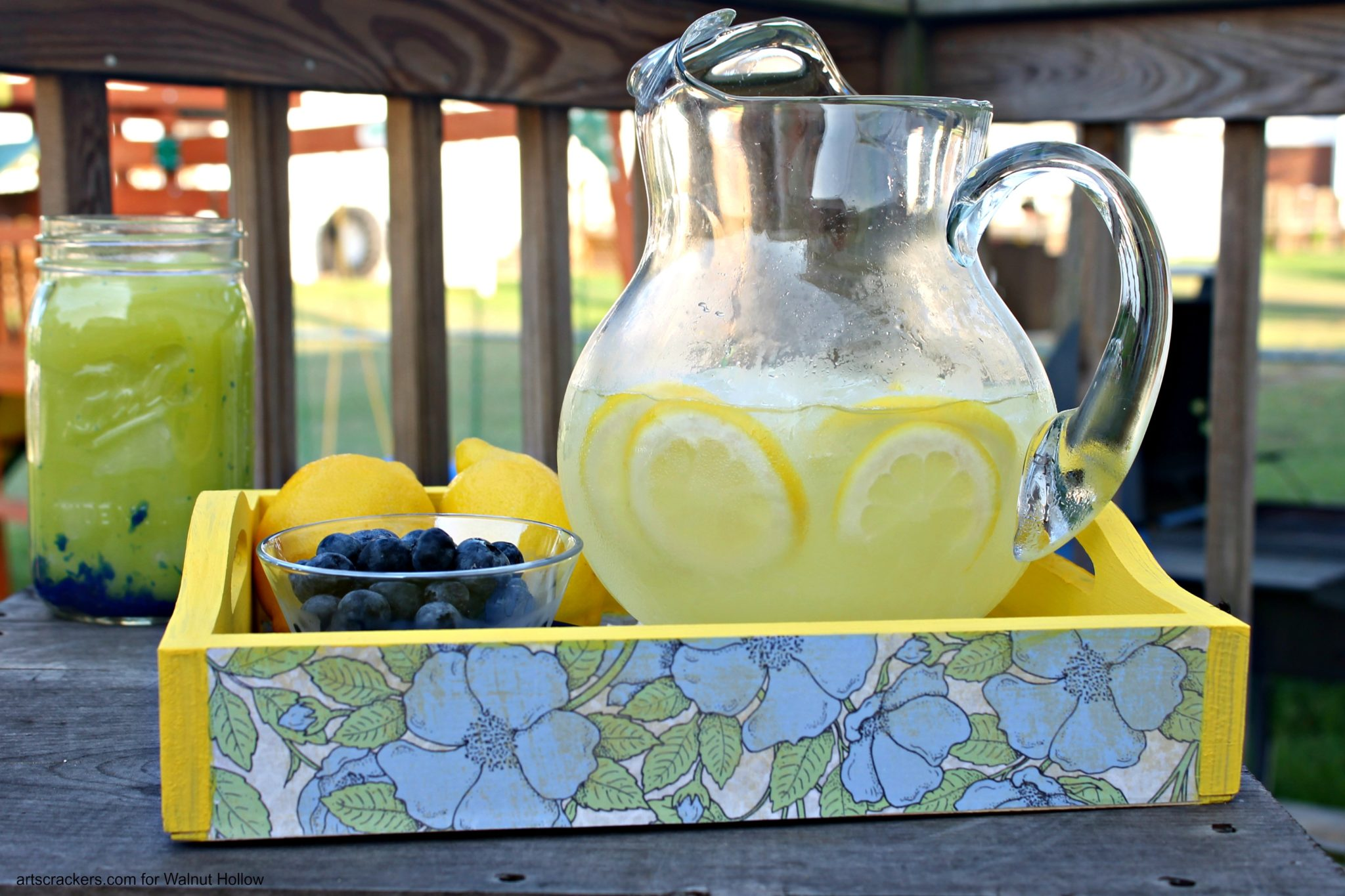Shabby Chic Lemonade Tray at BBQ