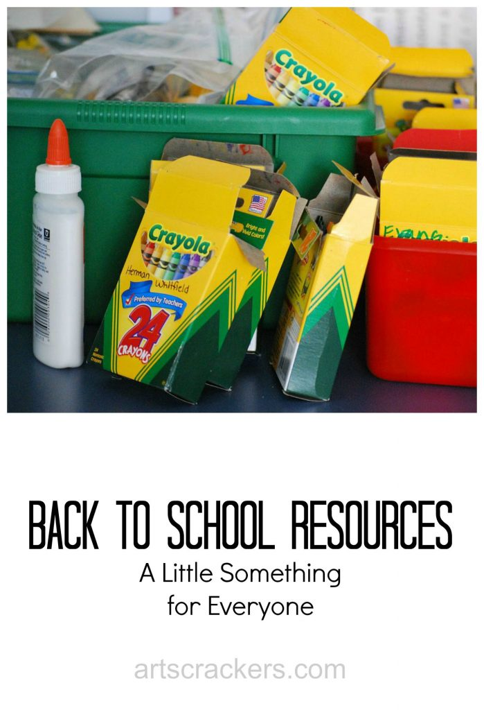Back to School Resources--A Little Something for Everyone