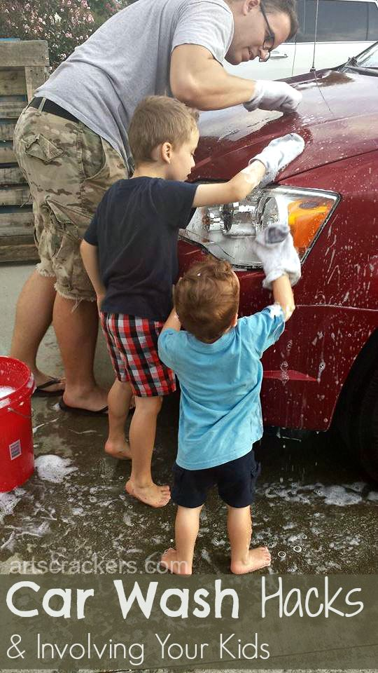 Car Wash Hacks and Involving Your Kids Practical Activity