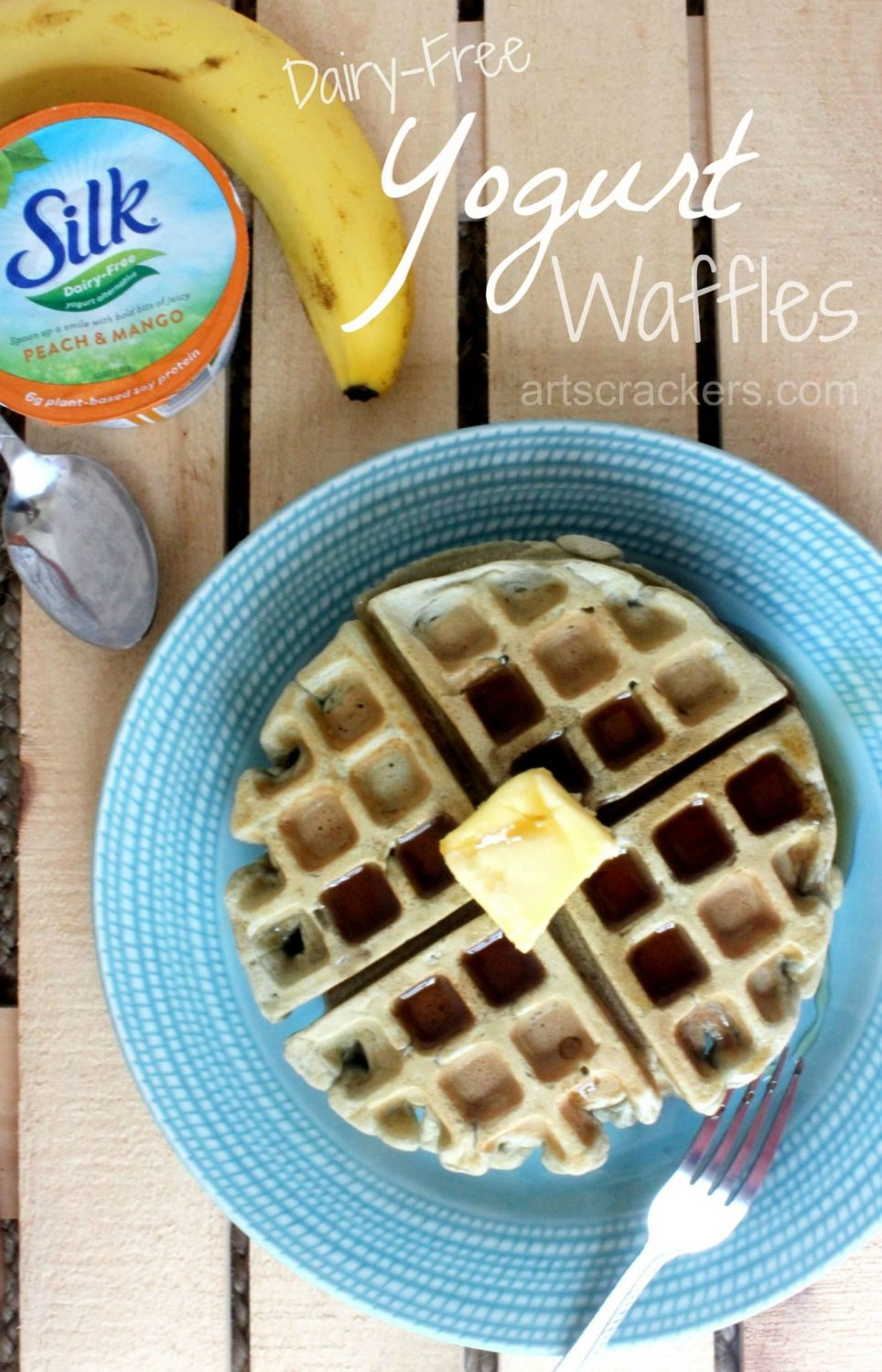 Dairy-Free Yogurt Waffles with Silk