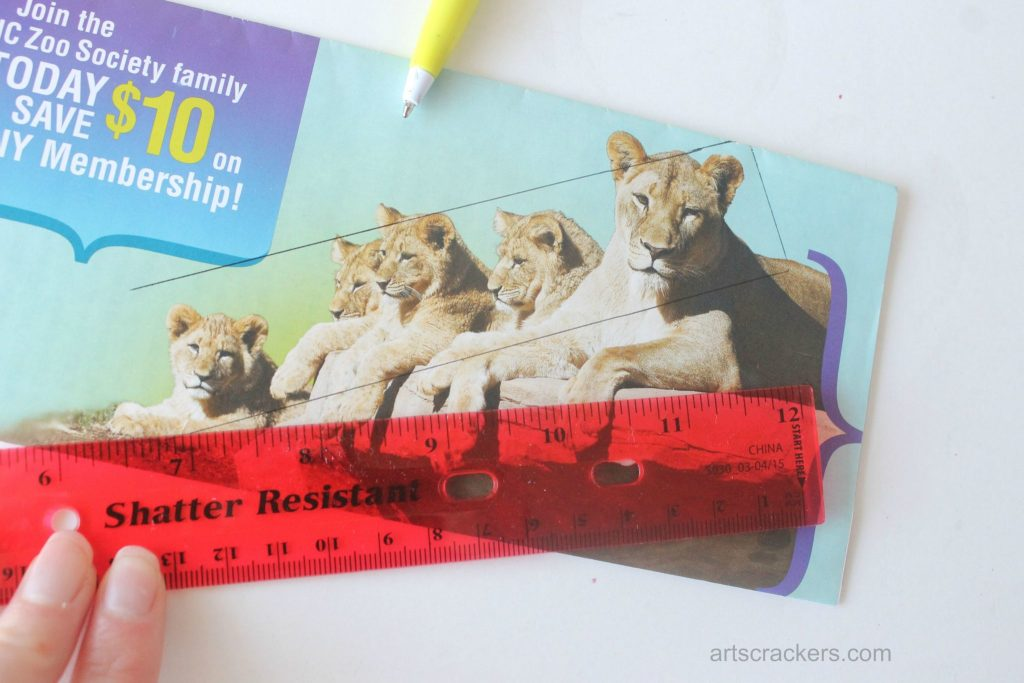 Decoupage Rulers Tutorial Step 1