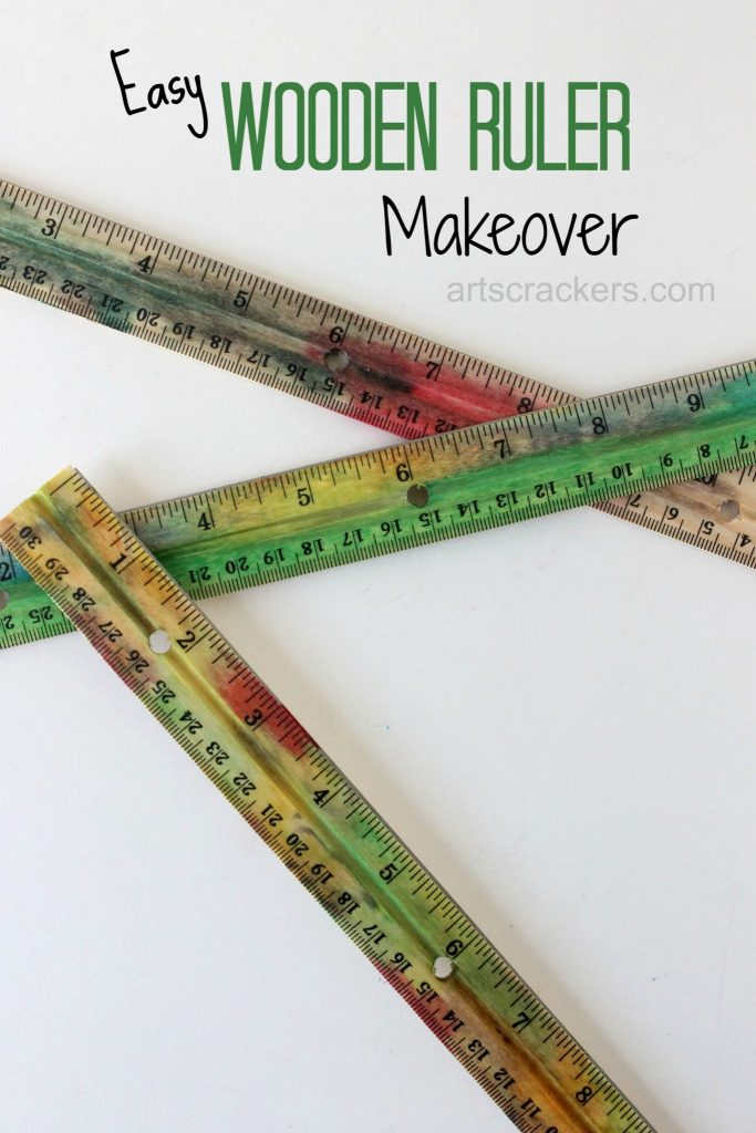 Easy Wooden Ruler Makeover Tutorial