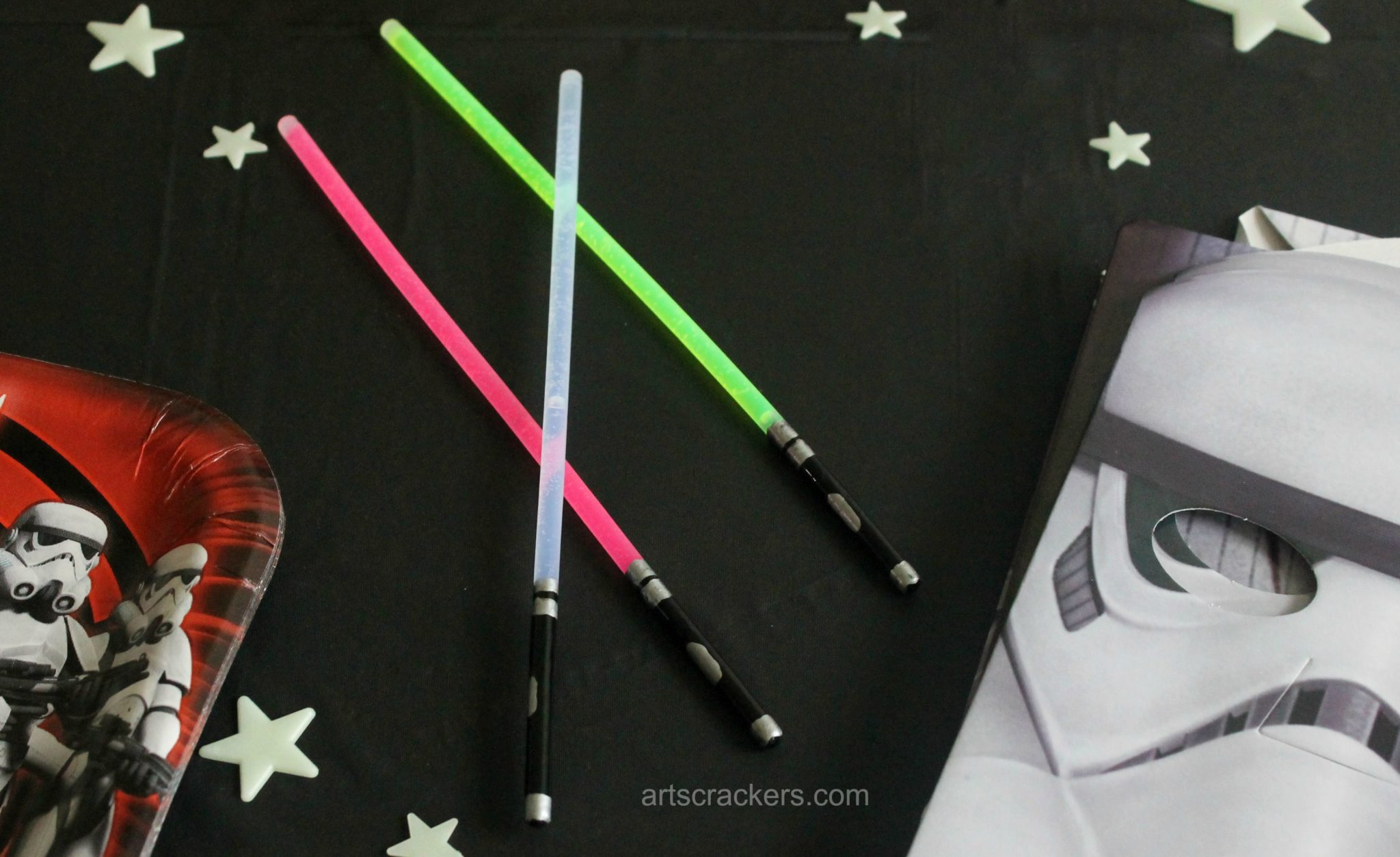 Glow stick lightsaber craft for Star wars arts and crafts