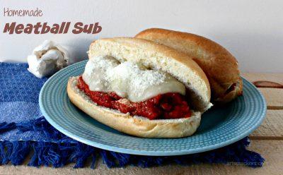 Homemade Meatball Sub