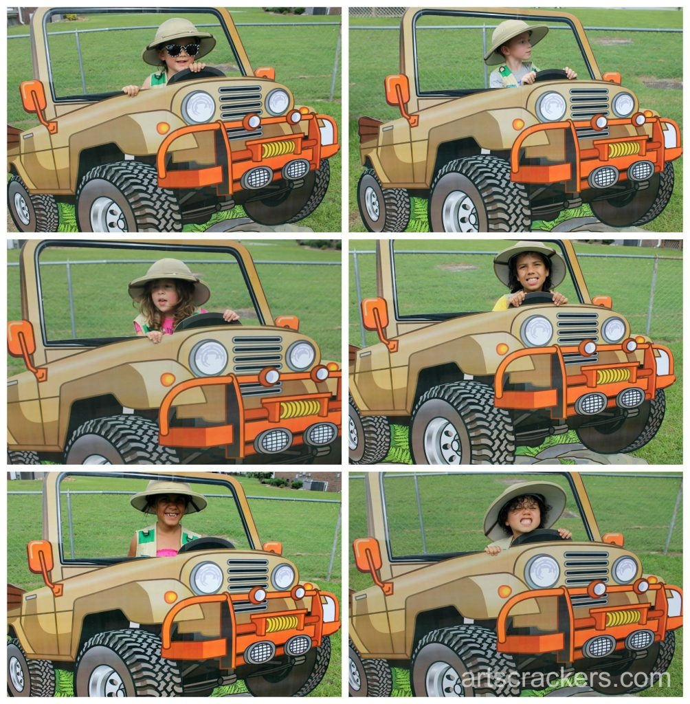 Safari Party Playdate Photo with Jeep