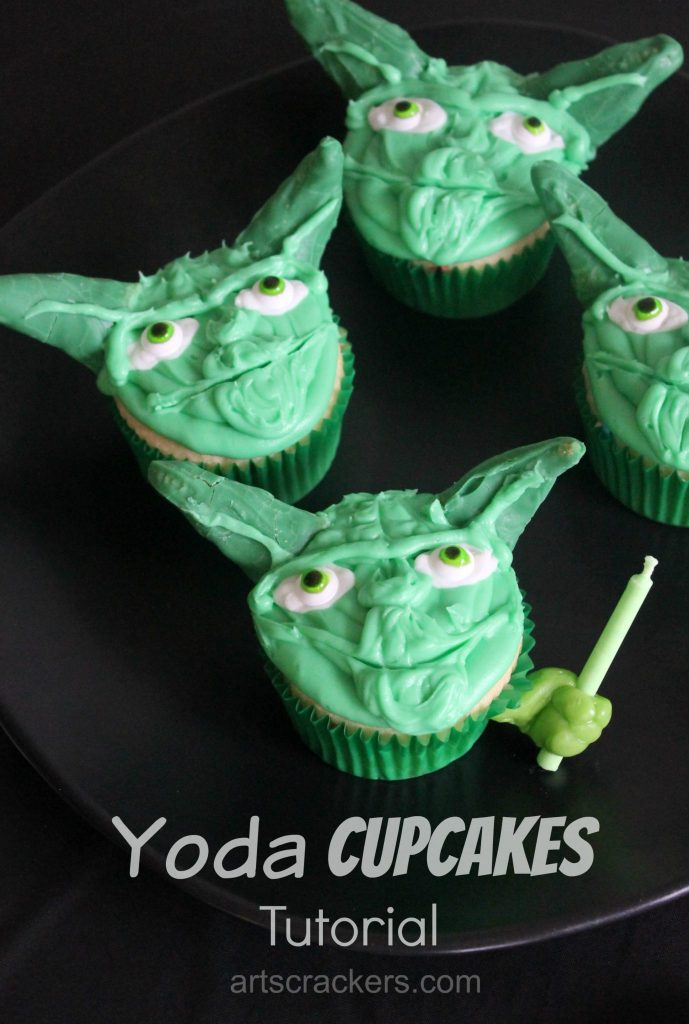 Yoda Cupcakes Tutorial Star Wars