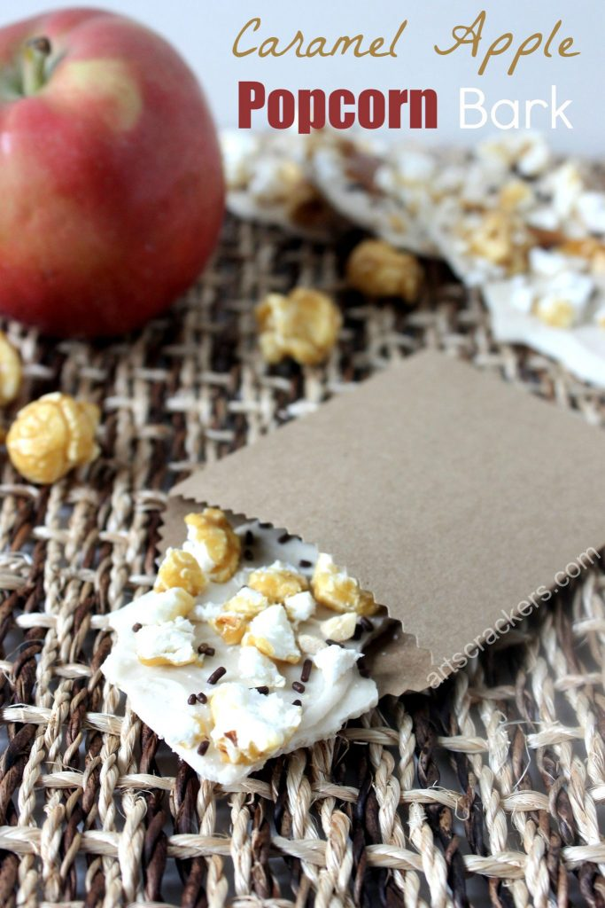 Caramel Apple Popcorn Bark for Fall