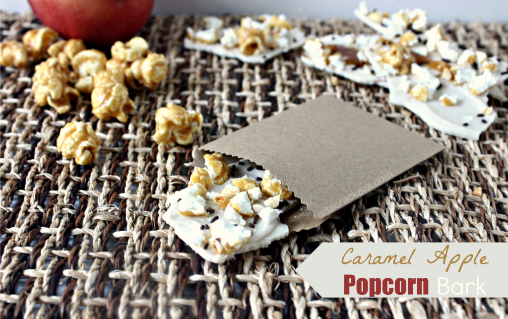 Caramel Apple Popcorn Bark