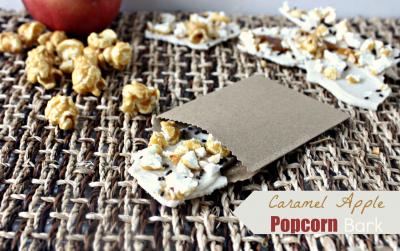 Caramel Apple Popcorn Bark
