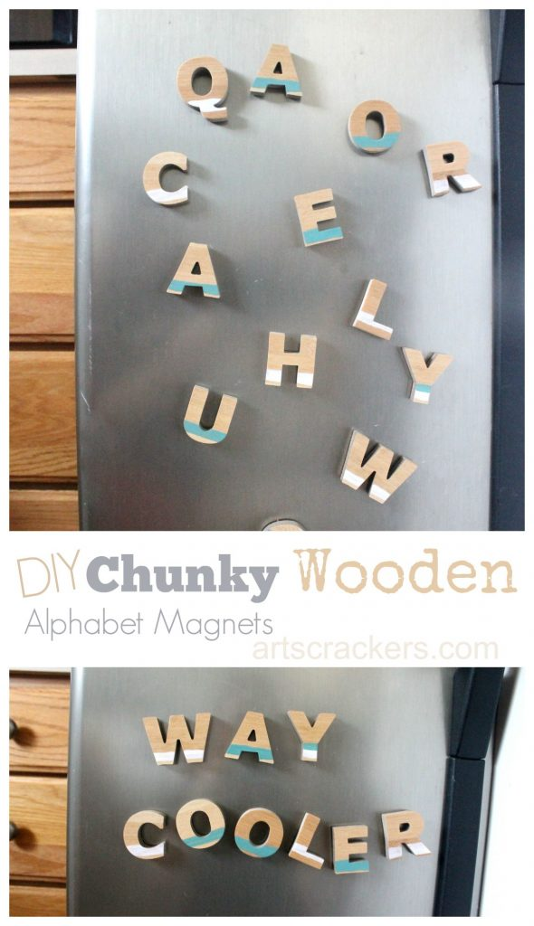 Chunky Wooden Alphabet Magnet TutorialChunky Wooden Alphabet Magnet Tutorial