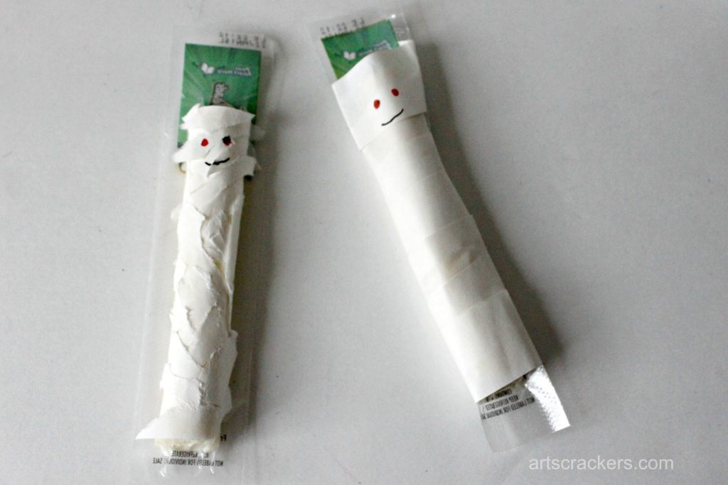 Fall String Cheese Wrapper Mummies