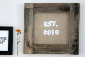 Framed Burlap Wall Decor