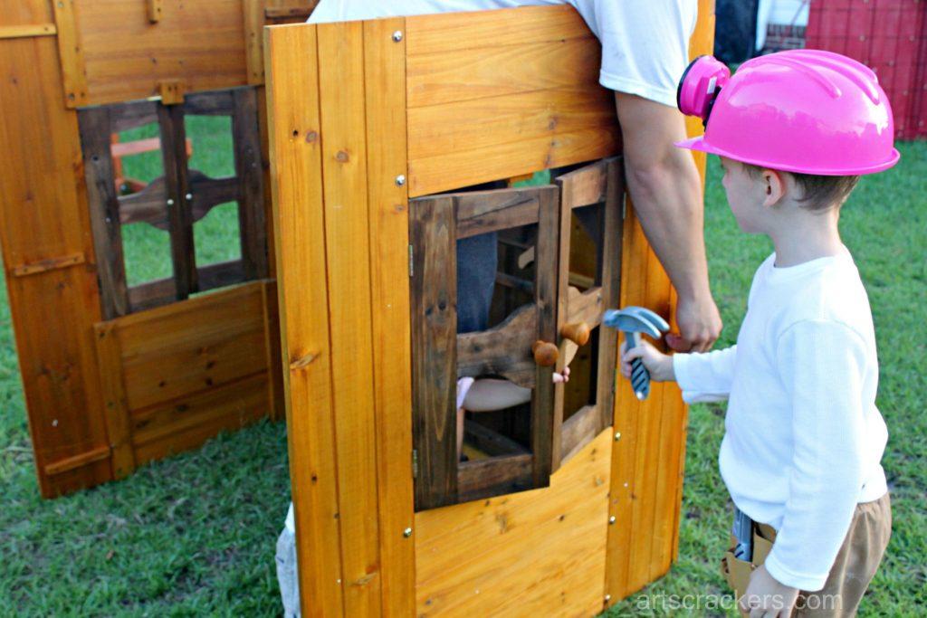 KidKraft Outdoor Playhouse Construction