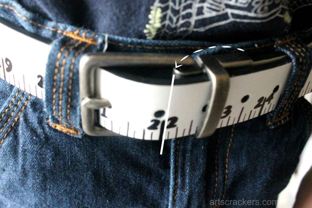 Measuring Belt Tutorial Waist Measurement Buckled