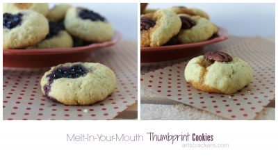 Melt In Your Mouth Thumbprint Cookies