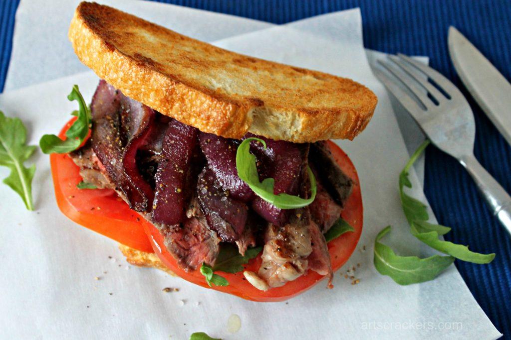 Steak Sandwich with Caramelized Onions