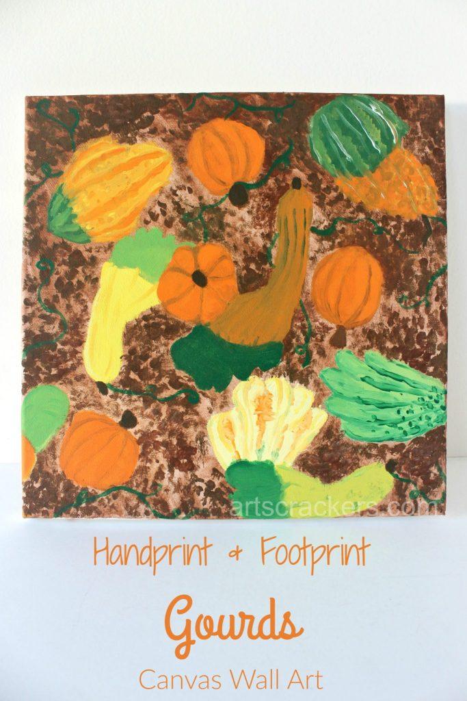 Gourd Handprint and Footprint Canvas Wall Art