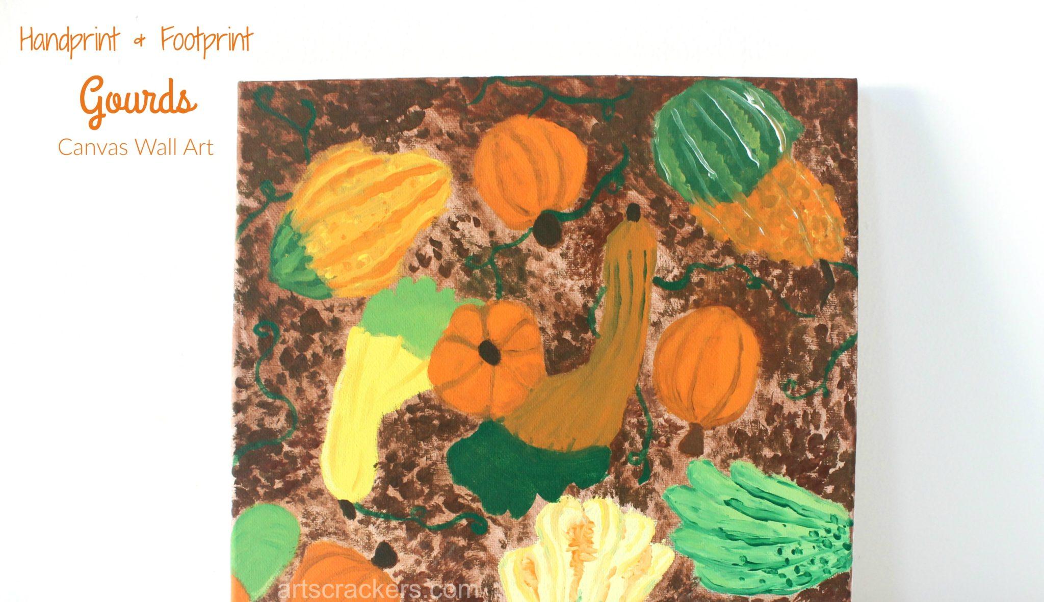 Gourds Handprint and Footprint Canvas Art
