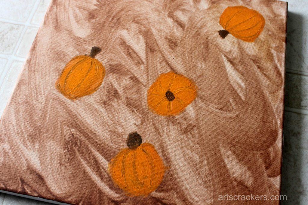 Gourds Handprint and Footprint Canvas Step 5
