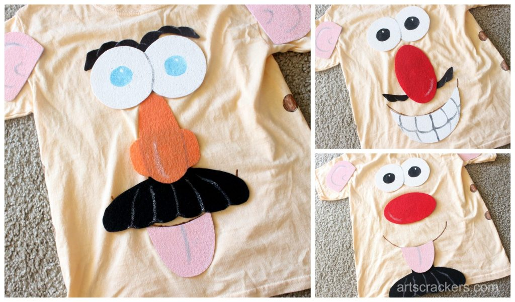 Mr. Potato Head Costume Funny Faces