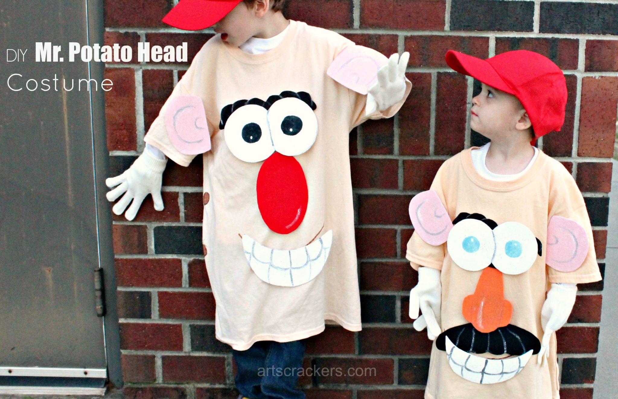 DIY No-Sew Mr. Potato Head Costume for