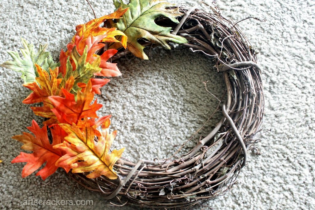Simple Fall Wreath Tutorial Step 1