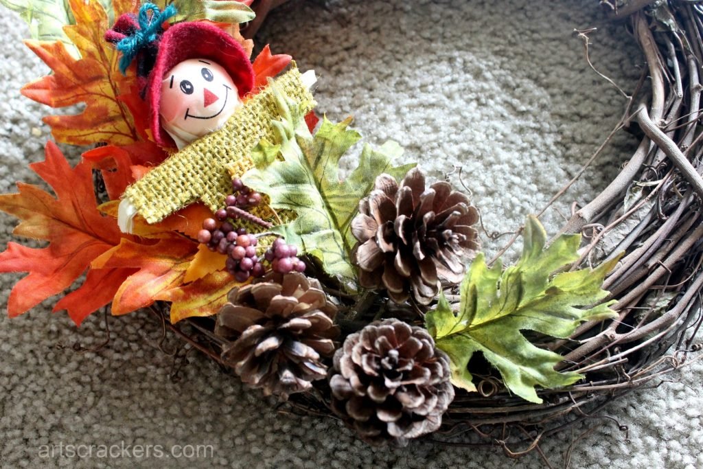 Simple Fall Wreath Tutorial Step 2