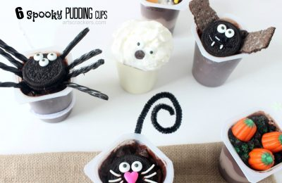 Spooky Pudding Cups Tutorial