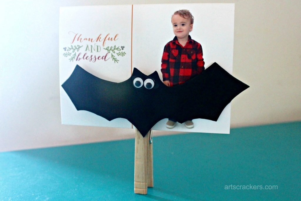 Clothespin Bat Picture Holder