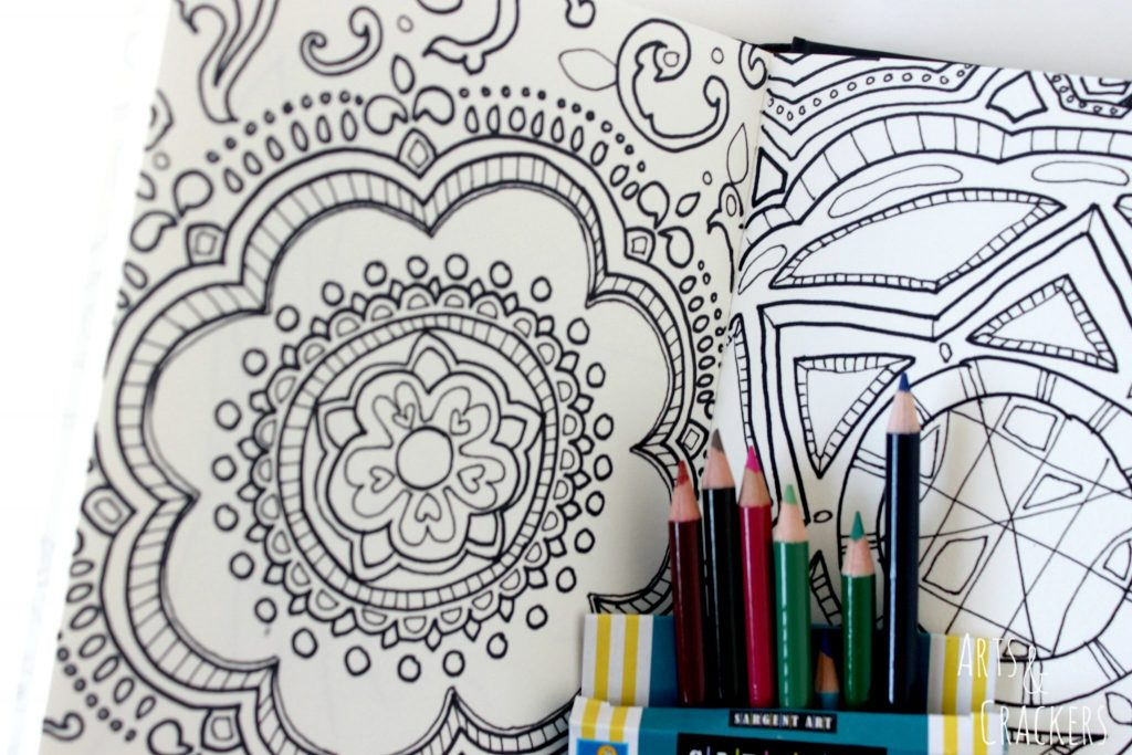 Doodle Coloring Book Adult Drawing