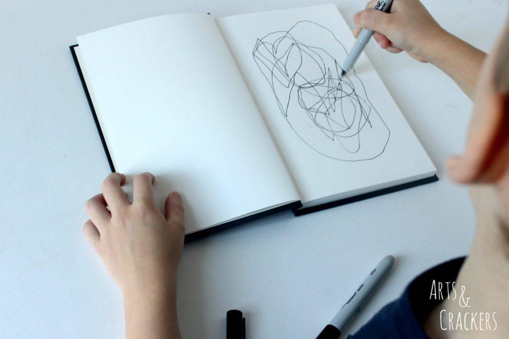 Doodle Coloring Book By Preschooler