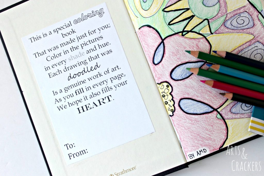 Doodle Coloring Book Dedication Page