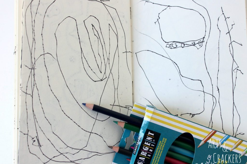 Doodle Coloring Book Preschool Drawing