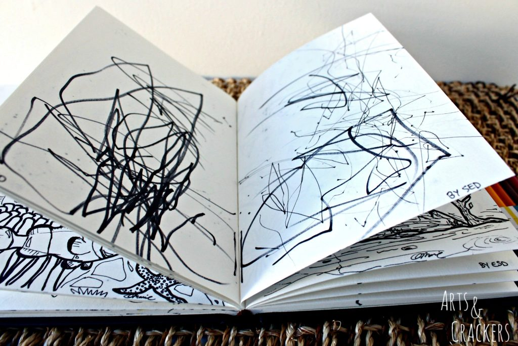 Doodle Coloring Book of Drawings