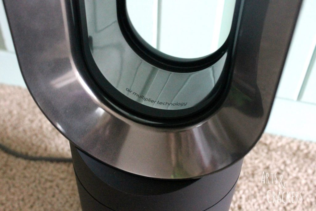 Dyson Hot and Cool Fan Heater Up Close