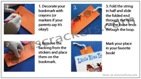 Fall Bookmark Craft