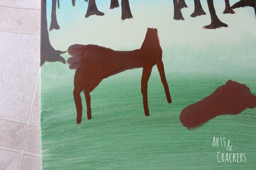 Footprint Deer Step 10