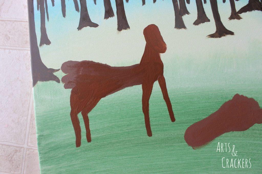 Footprint Deer Step 11