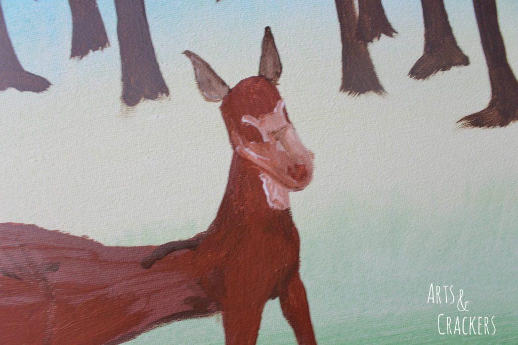 Footprint Deer Step 13