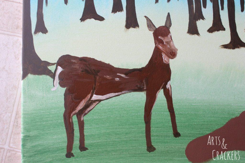 Footprint Deer Step 14