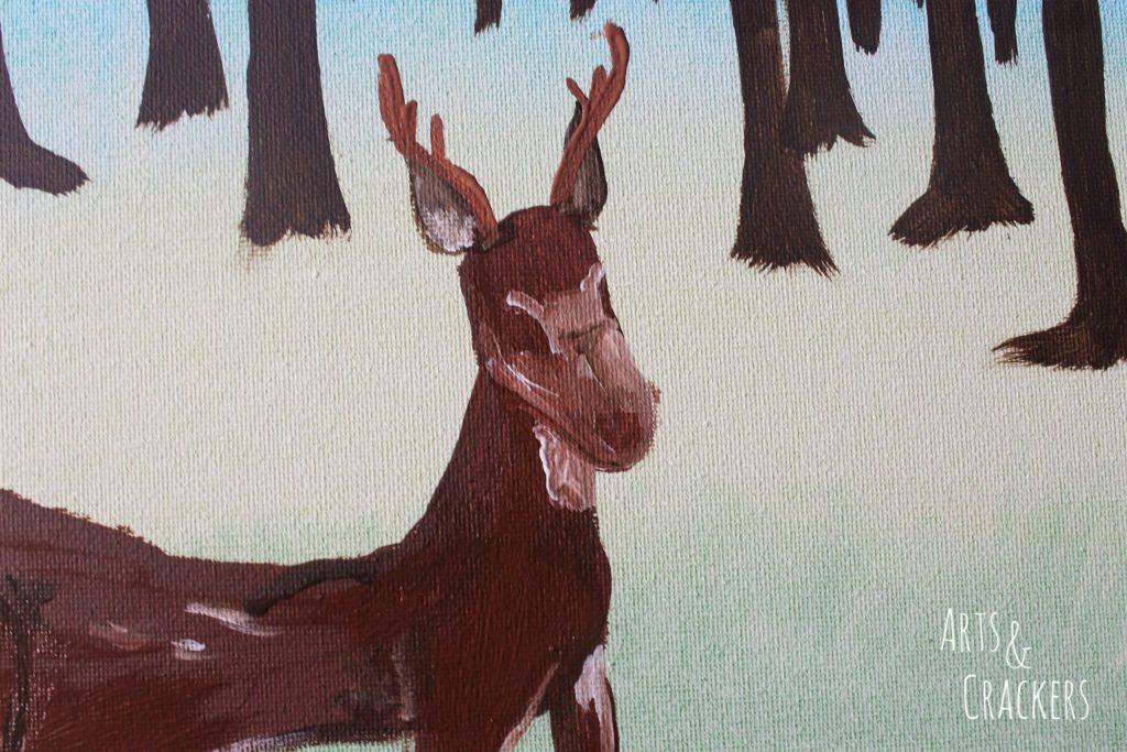 Footprint Deer Step 15