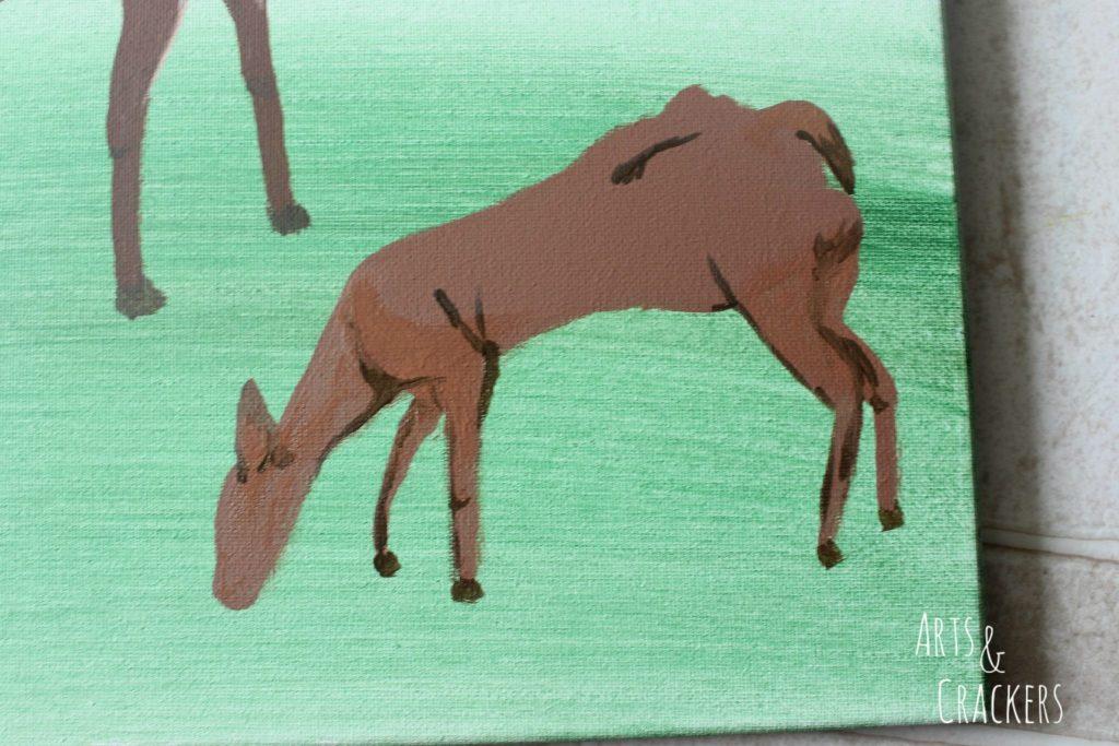 Footprint Deer Step 17