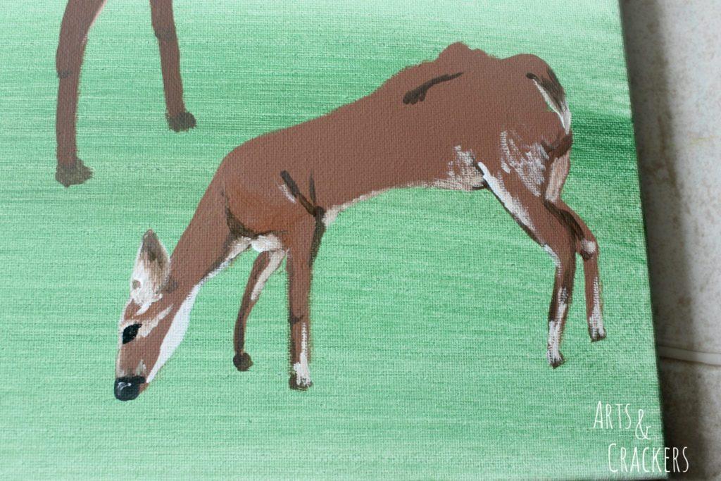 Footprint Deer Step 19