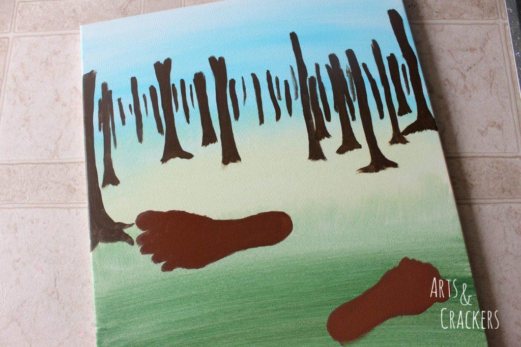 Footprint Deer Step 6