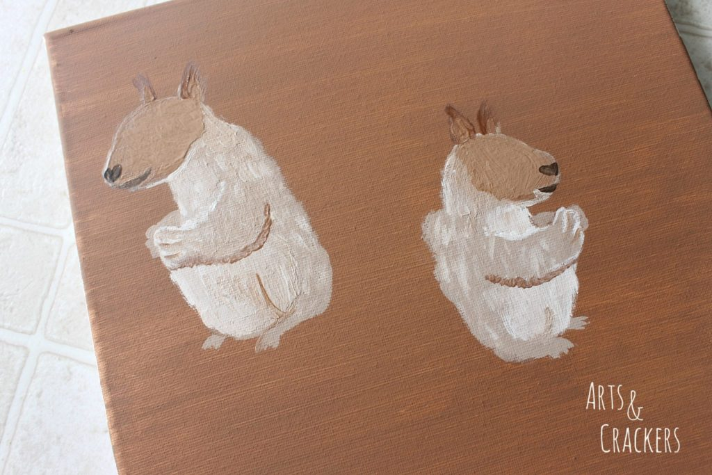 Handprint Squirrel Painting Step 10