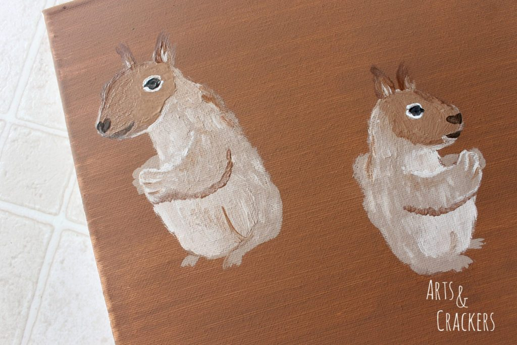 Handprint Squirrel Painting Step 11